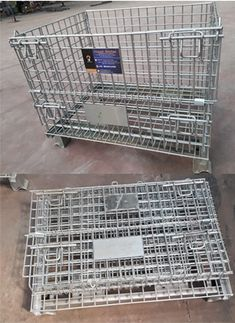 Foldable Cage Containers Organizational Goals, Wire Mesh, Cage, Container, Wire Mesh Screen