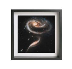 """Hubble Space Photography """"Space Rose"""" (13"""" x 13"""") Giclee Print on Metallic Paper Framed Art #space #art #photography #nasa #galaxy #stars #framed #photograph #universe"""