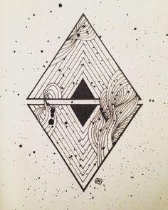"""Mi piace"": 27, commenti: 2 - Manuel (@doppiaemmegram) su Instagram: ""Triangles #illustration #art #draw #lines #simple #ink"""