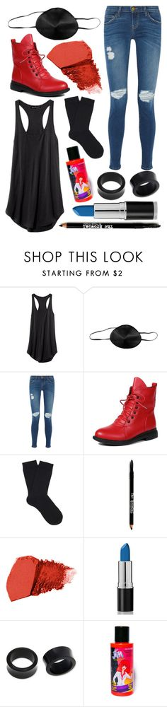 """""""Undyne (Undertale)"""" by thefnaftheorists ❤ liked on Polyvore featuring Current/Elliott, Falke, Lord & Taylor, Jane Iredale, NOVICA, Manic Panic, women's clothing, women's fashion, women and female"""