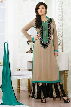 Grey Color Drashti Dhami Style Anarkali Salwar Kameez Online From Easysarees.