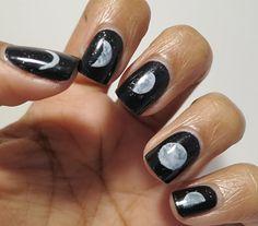 Moon Cycle nail art