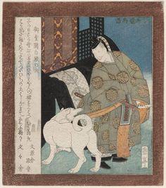 The Dog of Lord Fujiwara Michinaga, the Regent of the Buddha Hall (Midô Kanpaku-dono no inu), from the series A Collection of Tales from Uji (Uji shûi monogatari) / Gakutei