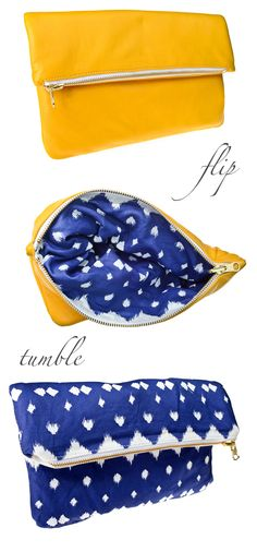 The gorgeous Lattice print reversible clutch from @hammocks tea
