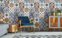 Hip tegel behang voor een mediterraanse uitstraling van je keuken, restaurant of woonkamer. We hebben tegel behang in diverse varianten, bezoek de webshop.
