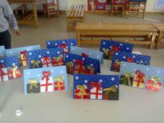 καρτες Christmas Crafts, Merry Christmas, Xmas, Pre School, Card Ideas, Workshop, Decor, Cards, Merry Little Christmas