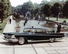 General Motors advertisement for the 1959 Buick Electra 225 on Cranbrook Academy of Art campus.