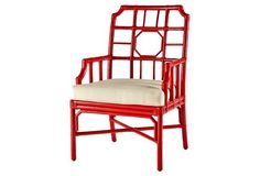 Regeant Accent Chair, Antiqued Red
