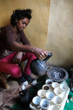 5 of the Best Coffee Shops in Addis Ababa, Ethiopia. On the photo small local coffee shop.