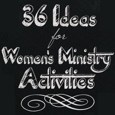 Activity Ideas for Women's Groups