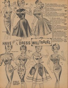1963  Have The Right Dress Will Travel | by The Cardboard America Archives