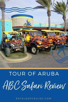 Searching for a day excursion in Aruba? When you are planning your next cruise vacation to Aruba be sure to include an island tour with ABC Tours. This is a great way to spend the day while exploring this beautiful island. This one-of-a-kind tour will take you to a variety of hidden gems in Aruba. From the California Lighthouse, the Wish Garden, to Baby Beach just to name a few. Check out our post to see everything that this off-road shore excursion offers cruisers. Cruise Excursions, Cruise Destinations, Shore Excursions, Caribbean Vacations, Caribbean Cruise, Cruise Tips, Cruise Vacation, Aruba Island, California Lighthouse