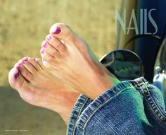 Show your salon visitors a relaxed look with the perfect pedicure for the long weekend with this high quality NAILS salon poster. - $1