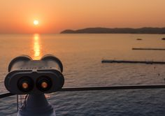 Sunset binoculars