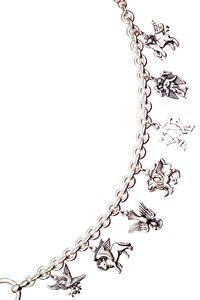 Sterling Silver Seven Charm Bracelet $385.00 http://www.celebrateyourfaith.com/Sterling-Silver-Seven-Charm-Bracelet-P5689C1727.cfm