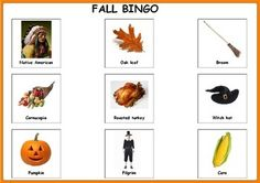 Fall Bingo. Autism & Special Needs. For more resources follow http://www.pinterest.com/angelajuvic/my-tpt-store/