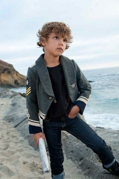 #boys fashion boys fashion - Jacket Stella McCartney, jeans Paul Smith, T-shirt Zara Kids, suspenders Fifth Works for Trico Field