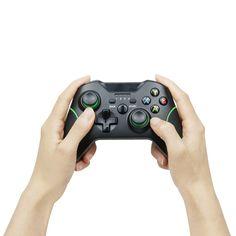 TECTINTER 2.4G Gamepad Joypad Sem Fio para Xbox One Console Compatível Com PC/Android Telefone Inteligente Para XBoxOne Joystick Consoles, Pc Android, Xbox One Console, 4g Wireless, Joystick, Strands, Telephone, Console, Roman Consul