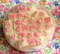 so delicate, decorated sugar cubes