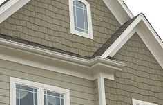 James Hardie Siding Products...thought this shake siding would look nice in the peak as this one has.