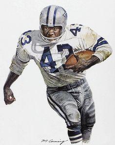 Don Perkins of the Dallas Cowboys by Merv Corning