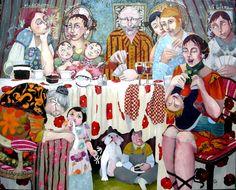 """Faby artiste peintre - """"Portraits de famille ..!"""""""