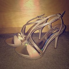 Sizzle by Coloriffics Strappy Beige Sandals Sizzle by Coloriffics Strappy Sparkly Beige Sandals. Worn only once for a wedding. Coloriffics Shoes Sandals