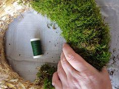 Bind deg en mosekrans; kransebinderkurs på 1-2-3   SkarpiHagen Autumn Decorating, How To Dry Basil, Witch, Nature