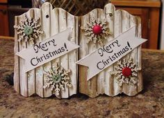 What's on My Kitchen Counter: Christmas Wishes Tags (corrugated cardboard)