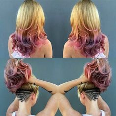 Love the colors!  Would never shave my head lol