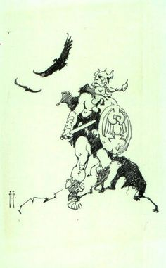 Viking Sketch by Frazetta