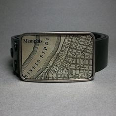 Memphis Map Belt Buckle