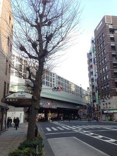 神田駅。上野東京ライン建設中