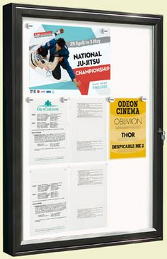 7 best notice boards poster cases pin boards blackboards images