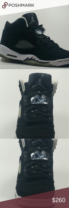 "Shop Kids' Jordan Black White size Sneakers at a discounted price at Poshmark. Description: Nike Air Jordan 5 Retro ""Oreo"" Black/Cool Grey Sold by Fast delivery, full service customer support. Nike Air Jordan 5, Air Jordan 5 Retro, Jordan Shoes For Sale, Kids Jordans, Username, Oreo, Kids Shop, Black And White, Boots"