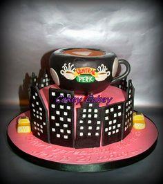 Friends themed cake  Cake by CakeyCakey