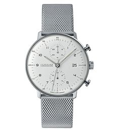 JUNGHANS 027/4003.44 Max Bill stainless steel Chronoscope watch (Silver