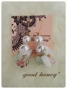 *YURA YURA PearlFlower pierce・necklace*■送料込み■
