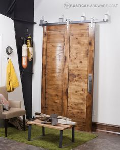 Bypass sliding doors from Rustica Hardware