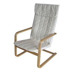 CorLiving Aquios Bentwood High Back Armchair In Eggshell White (Bentwood  High Back Armchair In Eggshell White) (Cotton)