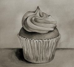 Cupcake In Black and White by GalleryPiece.deviantart.com on @deviantART