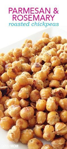 Garlicky Parmesan and Rosemary Roasted Chickpeas | Great Healthy Snack |  It's the International Year of the Pulse- dried peas, beans, lentils & chickpeas—they make nutritious, sustainable, affordable & delicious meals | #PulsePledge  .client