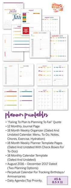 How to Plan for Your Best Year Yet Newsletter subscription - Perpetual Calendar Template