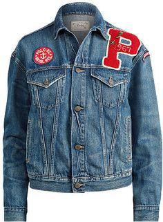 c52483ffda Polo Ralph Lauren Patchwork Trucker Jacket