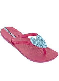 Baby My First Ipanema Sandals Heart Infant Girl Flat Beach Flip Flops Pink Tan