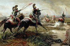 Kozik, Mariusz (b,1973)- French 4th Lancers  vs Scot Greys- Waterloo, 1815 (Lacedemon- DeviantArt)