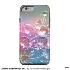 Colorful Water Drops iPhone 6/6s, Tough Tough iPhone 6 Case