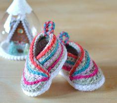 CROCHET PATTERN Easy Baby Kimono Shoes Baby von matildasmeadow