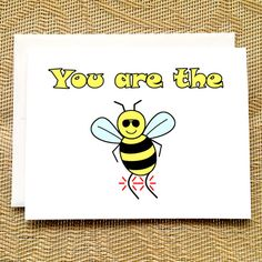 Fingerprint fathers day card pinterest bumble bees bees and dads fathers day card from son you are the bees knees by pithydiction m4hsunfo