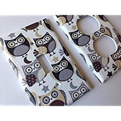 Grey Owl Light Switch Cover - Various Sizes Offered